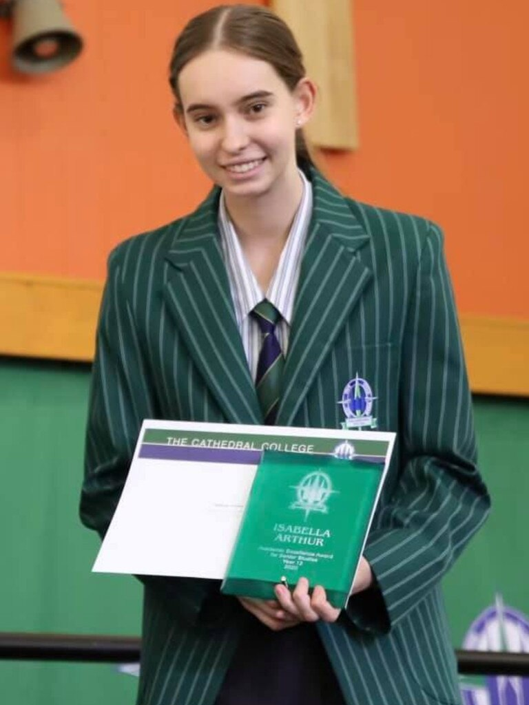 The Cathedral College's Isabella Arthur achieved an ATAR of 99.15. Picture: Contributed