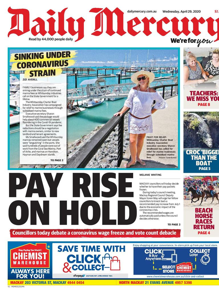 Daily Mercury April 29 front page