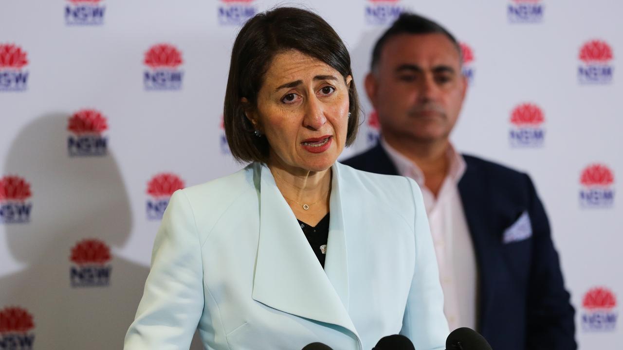 Premier of New South Wales Gladys Berejiklian and Deputy Premier John Barilaro.