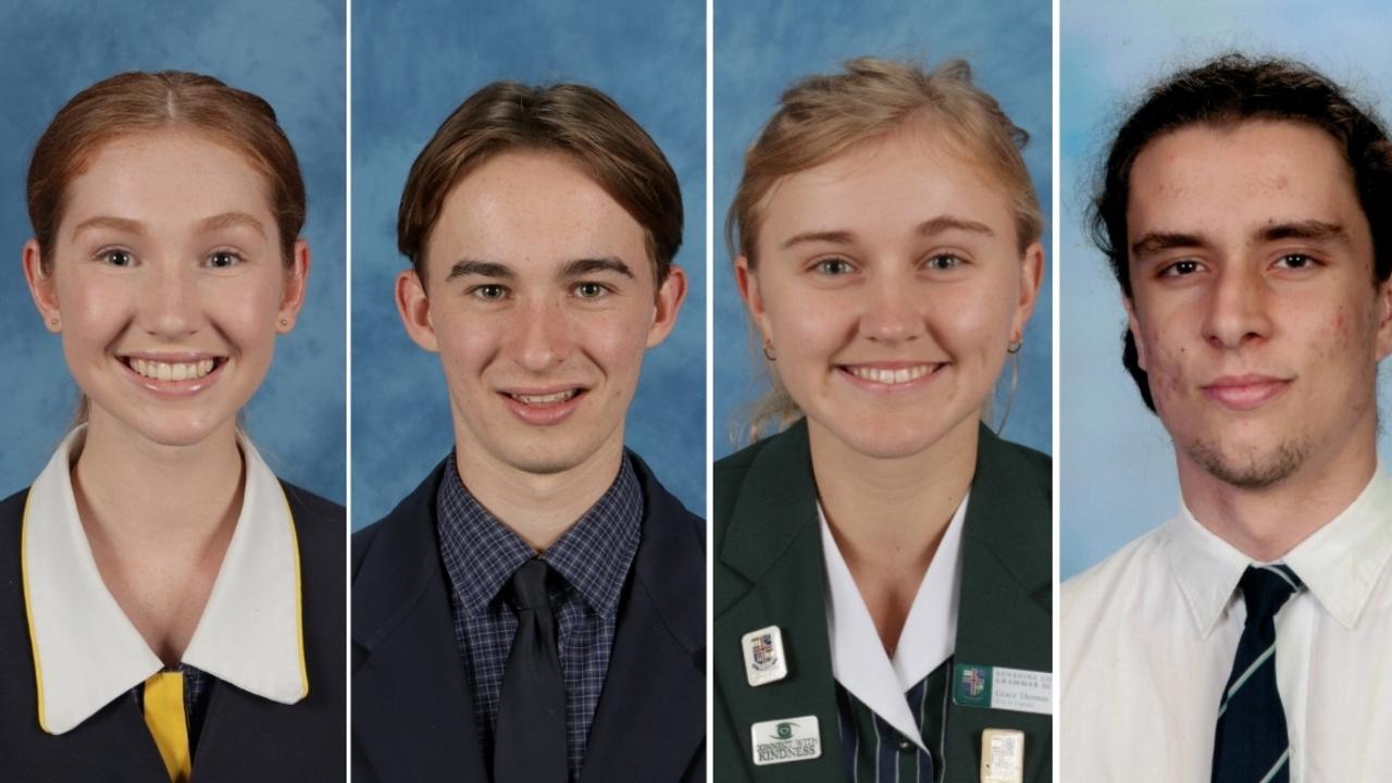 HIGH ACHIEVERS: Adrienna Halpin, Luke Bindon, Grace Thomas and Josh Lloyd all graduated with impressive ATARs