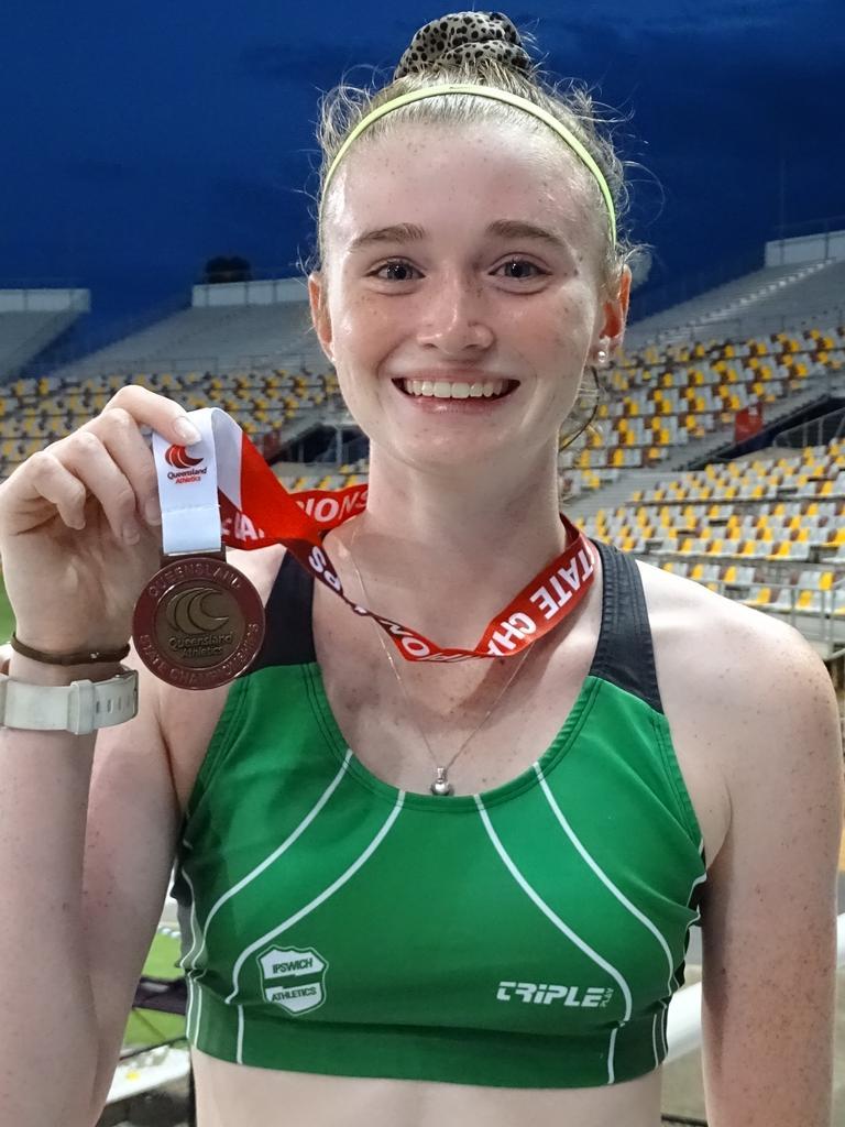 Bronze medal winner Sophie Wilkins. Picture: Vic Pascoe