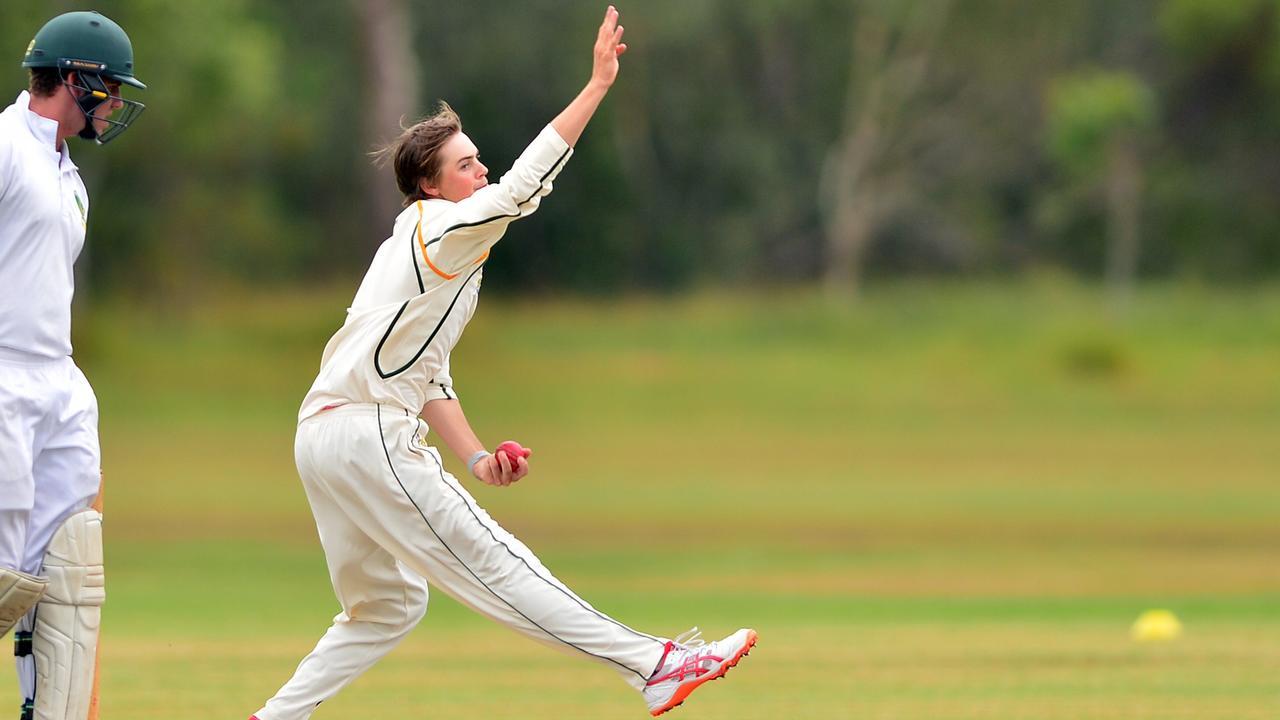 Glasshouse bowler Joel Owen. Picture: John McCutcheon