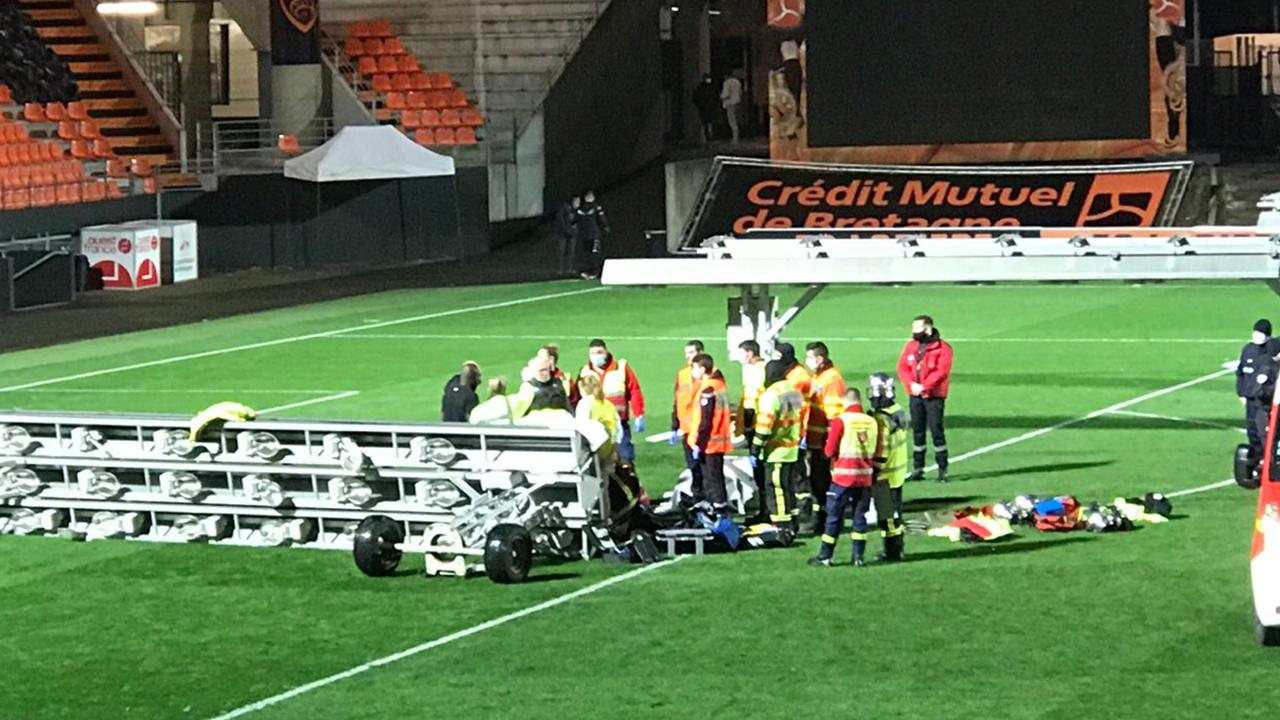 Groundsman dies after light structure falls on him at football match in France