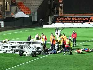 Falling lights kill football groundsman
