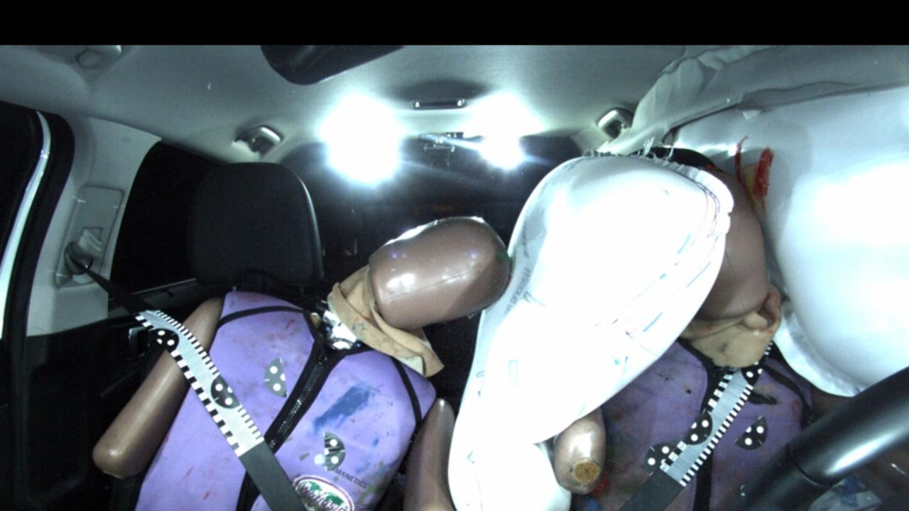 The Kia Sorento was awarded extra points for having a centre airbag to stop passengers clashing heads. Picture: Supplied
