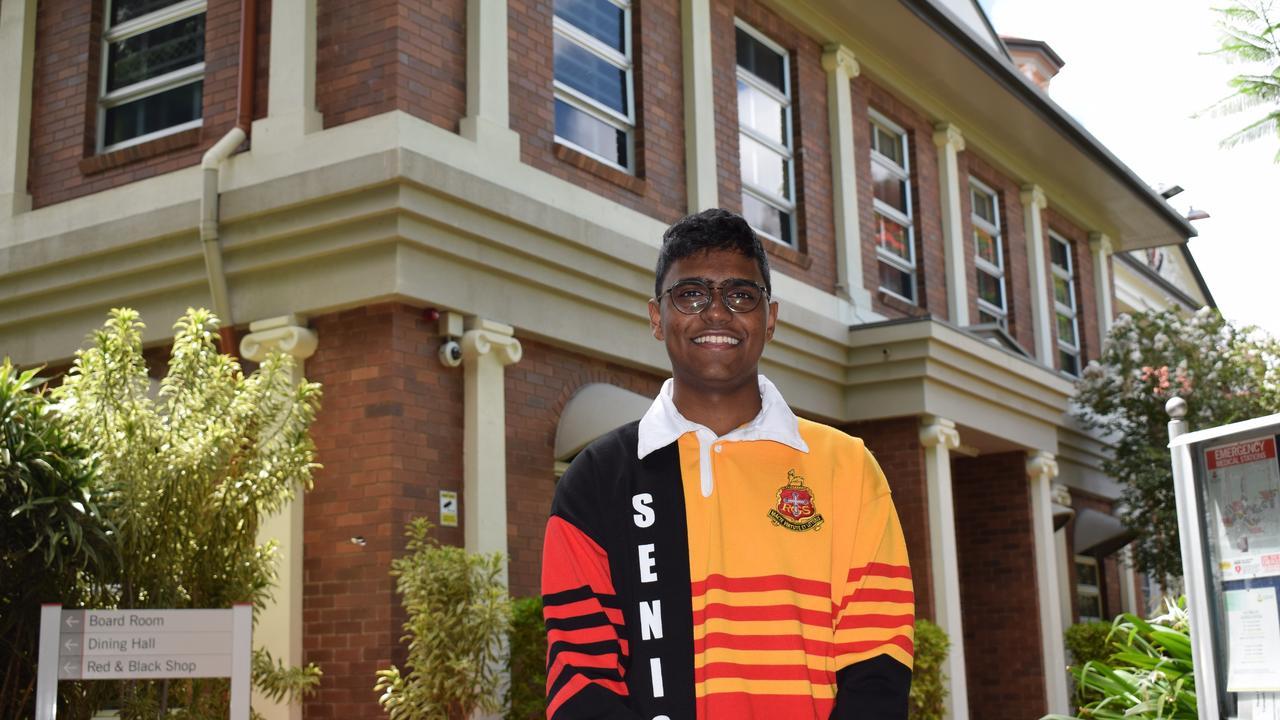 The Rockhampton Grammar School's Sansuka De Silva is one of 30 students across Queensland to receive an ATAR of 99.95. Picture: Aden Stokes