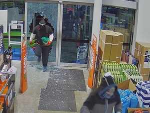 WATCH: Smash and grab thieves strike Mackay business