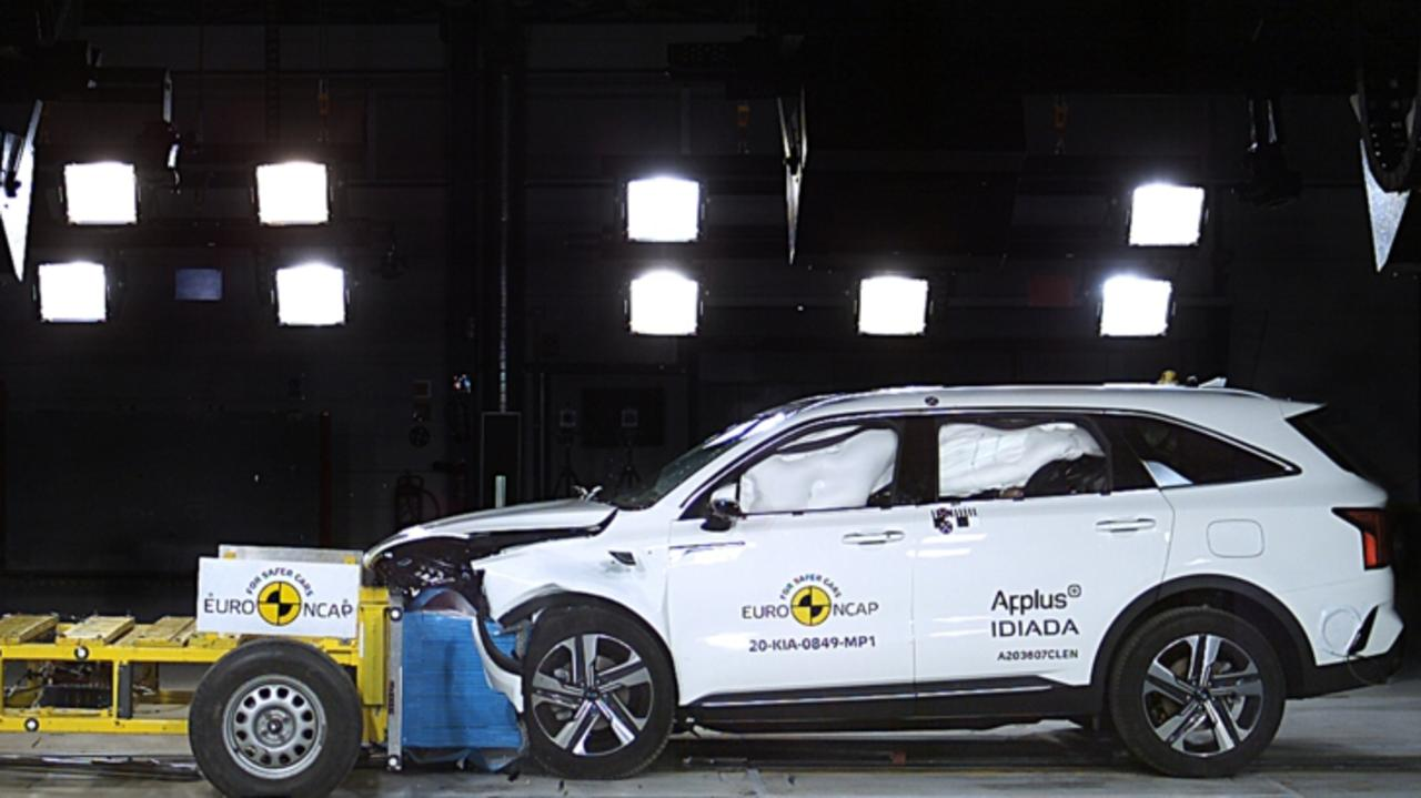 The Kia Sorento was awarded five stars under new ANCAP crash test protocols. Picture: Supplied