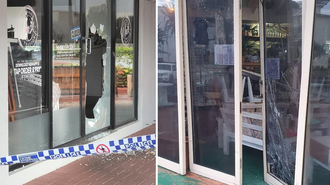 Multiple Yeppoon business were vandalised and broken into earlier this month including Whisk and Lure Living. Picture: Contributed