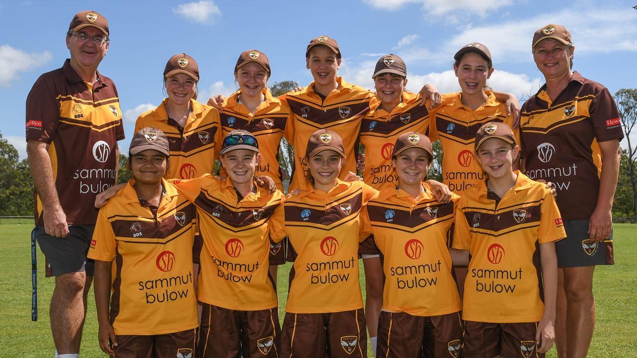 The Ipswich Hornets under-15 girls cricket team that won their Paul Pink Shield match against the Gold Coast. Picture: Darren J McCabe