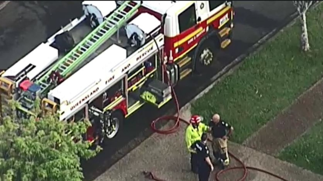 A woman has been killed in a unit fire in Zillmere. Picture: 9 News/Twitter
