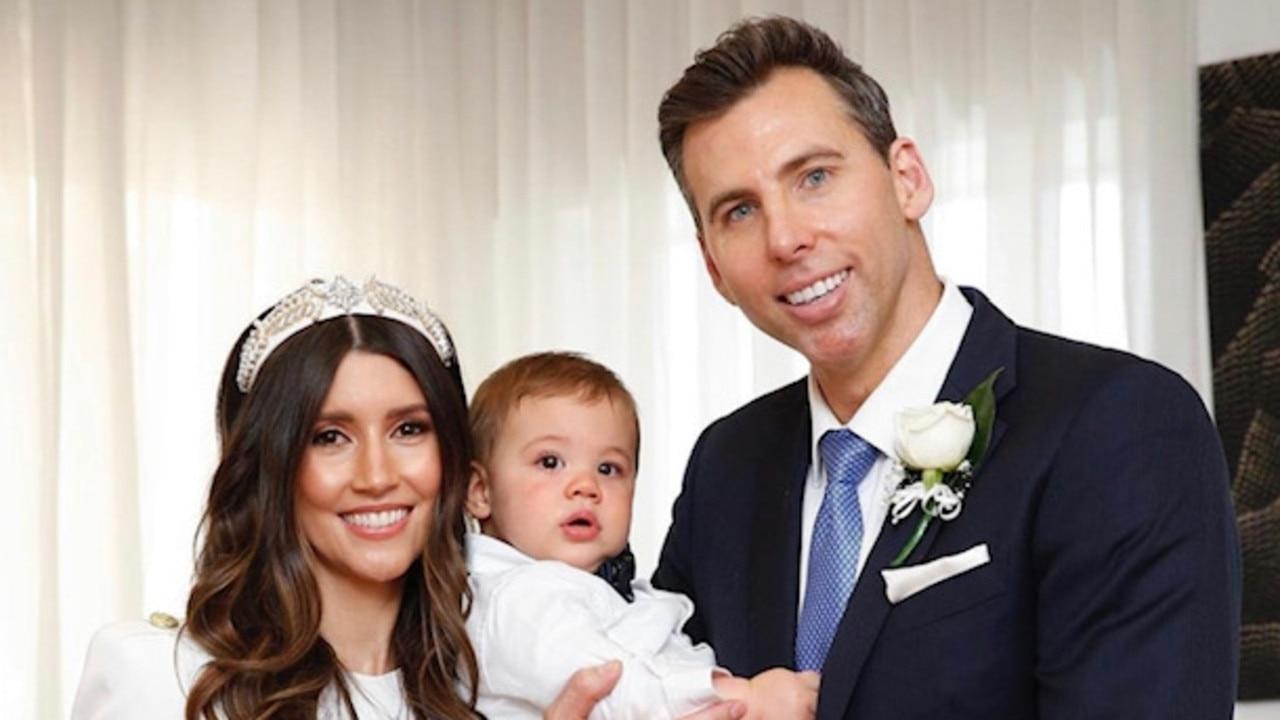 Grant Hackett and Sharlene Fletcher on their wedding day. Pic: Instagram