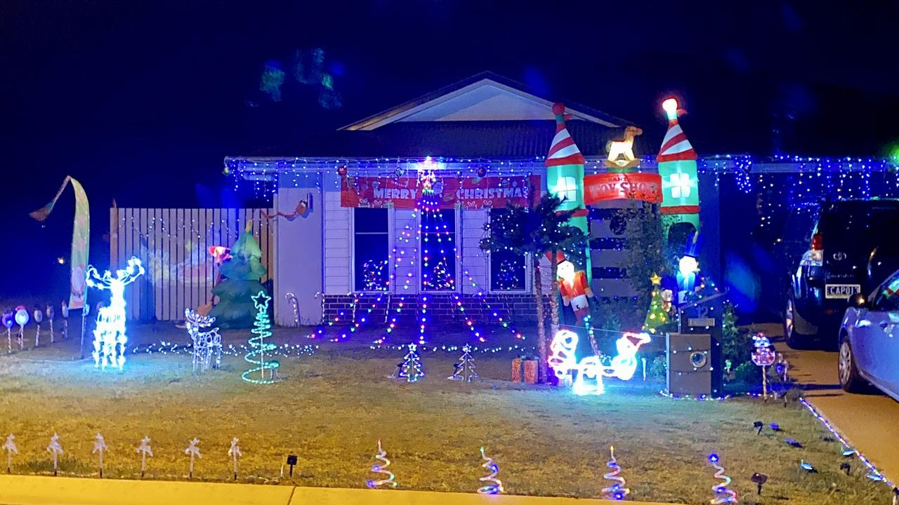 Livingstone Shire Council's 'Light Up Livingstone' Christmas lights competition residential winner 12 Magnetic Dr, Taroomball. Picture: Contributed
