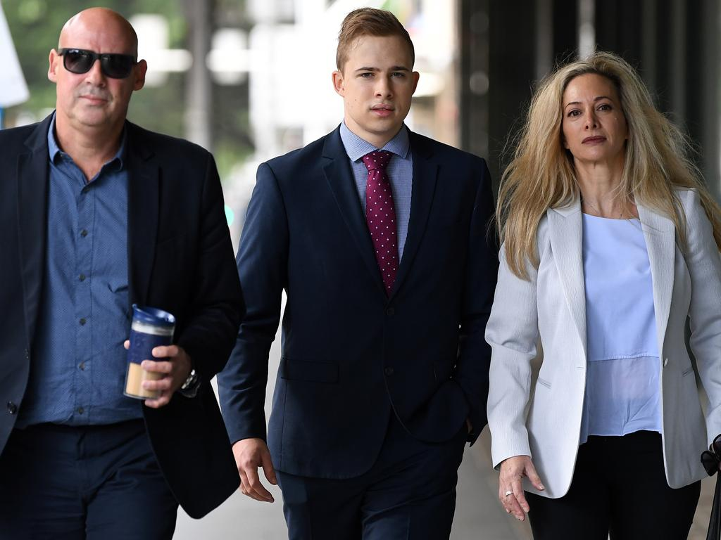 Mr Daniels remained on bail throughout the trial and was supported by his parents, usually both of them, every day in court. Picture: NCA NewsWire/Joel Carrett