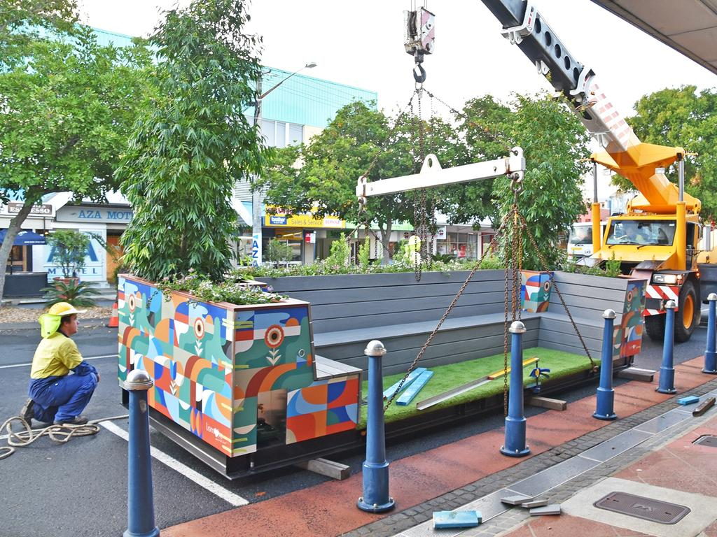 Lismore City Council are introducing parklets to the CBD.