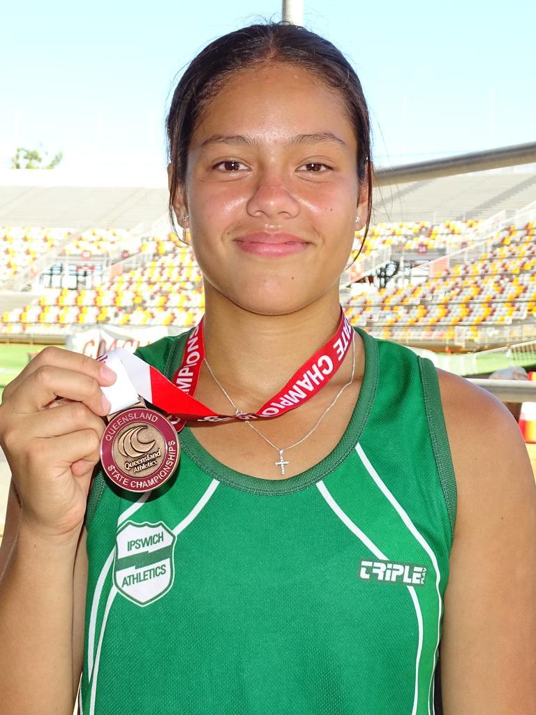 Under-20 state heptathlon bronze medal winner Laylani Va'ai. Picture: Vic Pascoe