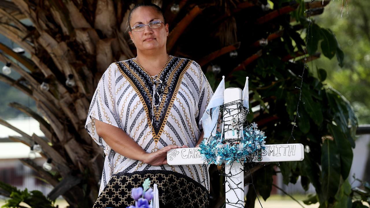 "Yarrabah mum Grace Smith says the pain of losing her 22-year-old son in a road accident in September was a ""daily struggle"". Picture: Stewart McLean"