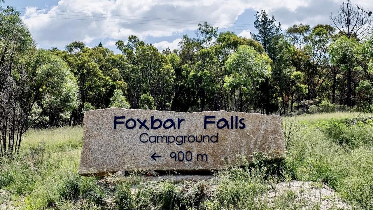 Granite Belt campsite Foxbar Falls.