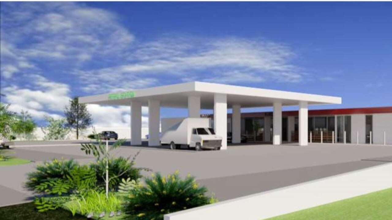 Model of a new Rainbow Beach service station to be built near the town's entrance.