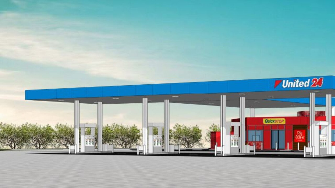 Plans for a proposed service station in Yamanto.