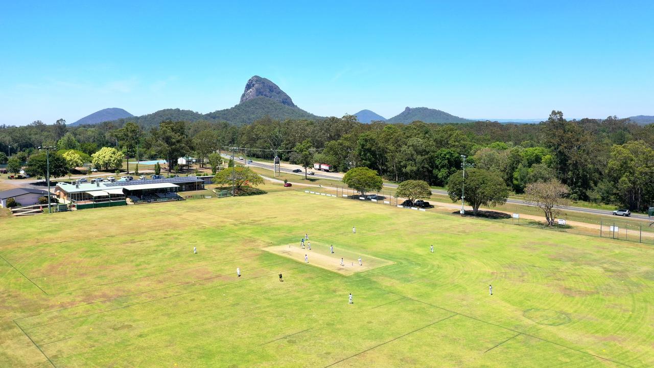 Glasshouse Cricket Club aerial. Picture: Natalie McComas