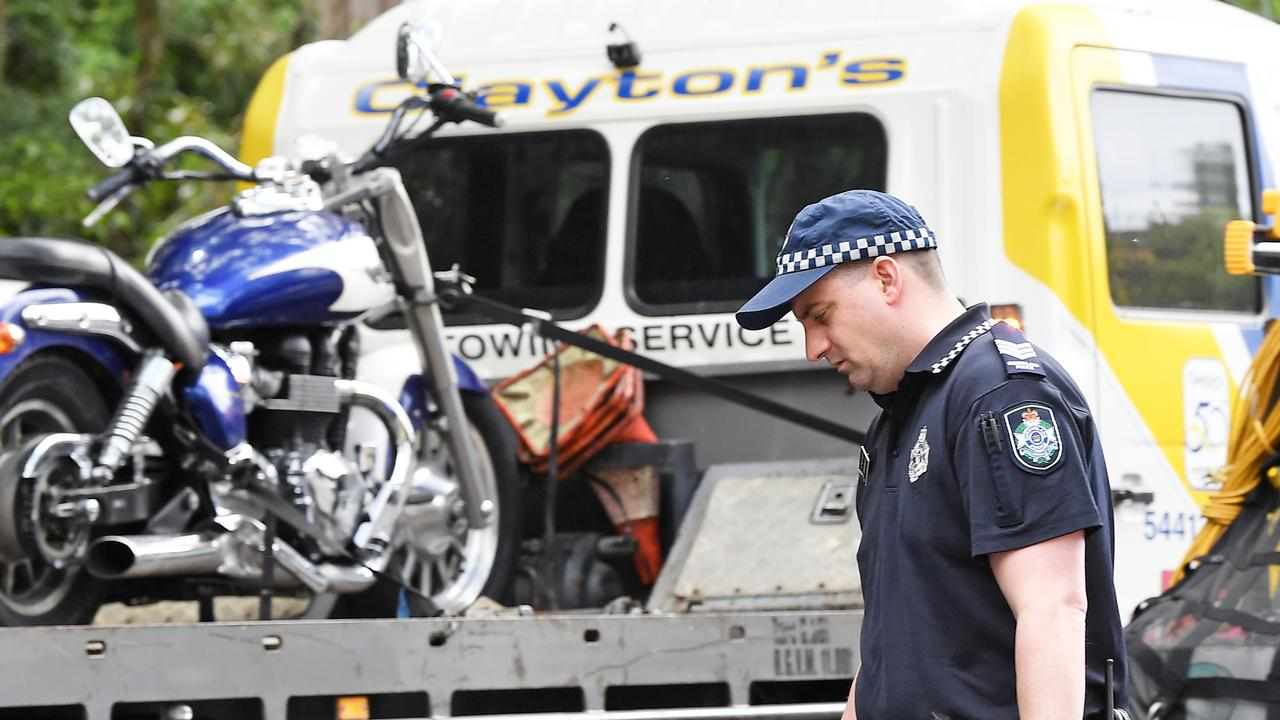 A motorbike rider died following a serious crash at Mooloolah Valley. Photo Patrick Woods.