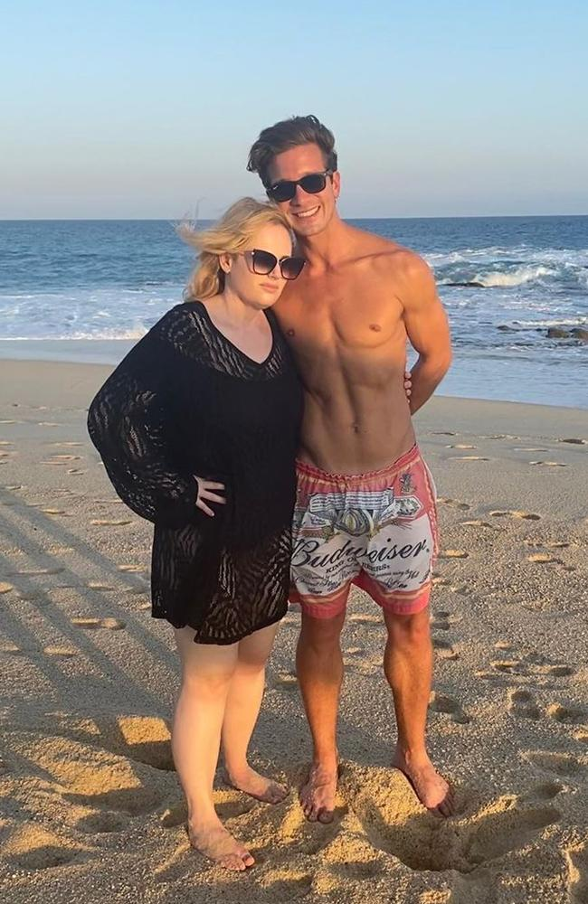 Year of health … and love! Rebel Wilson and her new boyfriend, Jacob Busch. Picture: Instagram