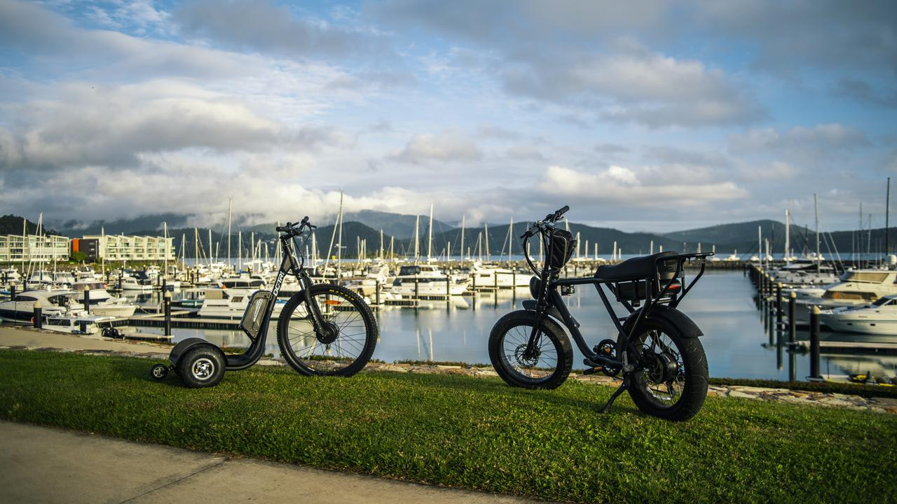 Both the bikes and trikes have a top speed of 25km/h. Picture: Supplied