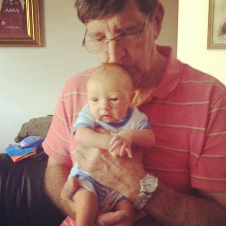 Poppy Joe McNeill with grandson Oliver McNeill. Picture: Contributed