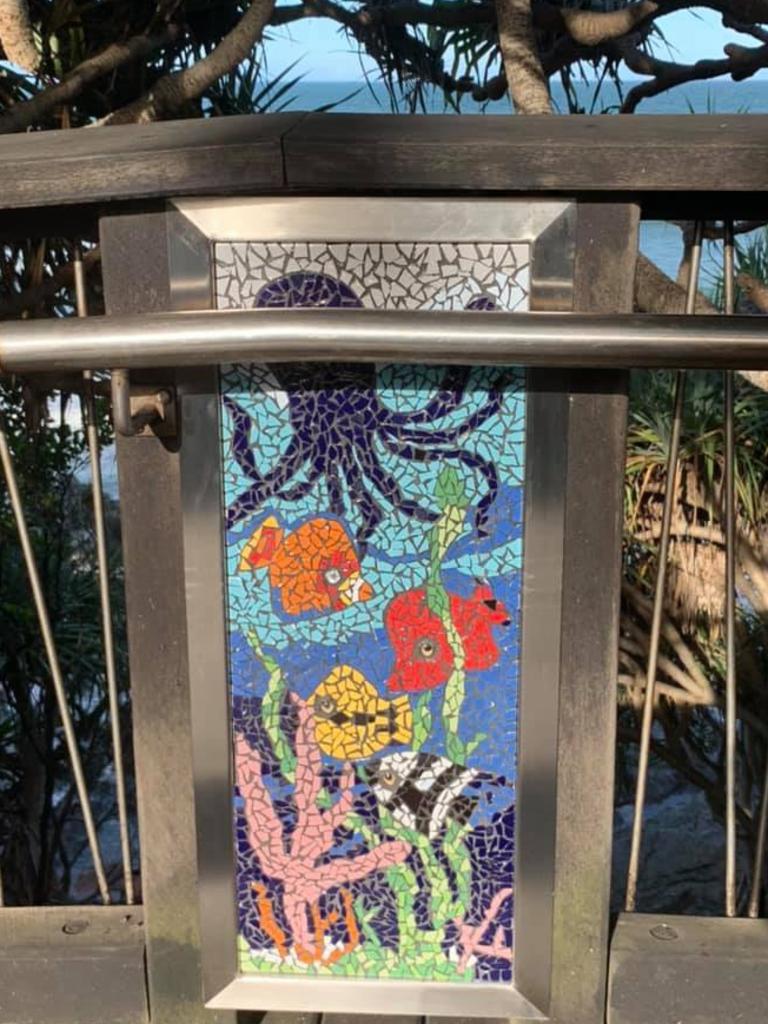 Ten mosaics line the Coolum boardwalk. Picture: Supplied.