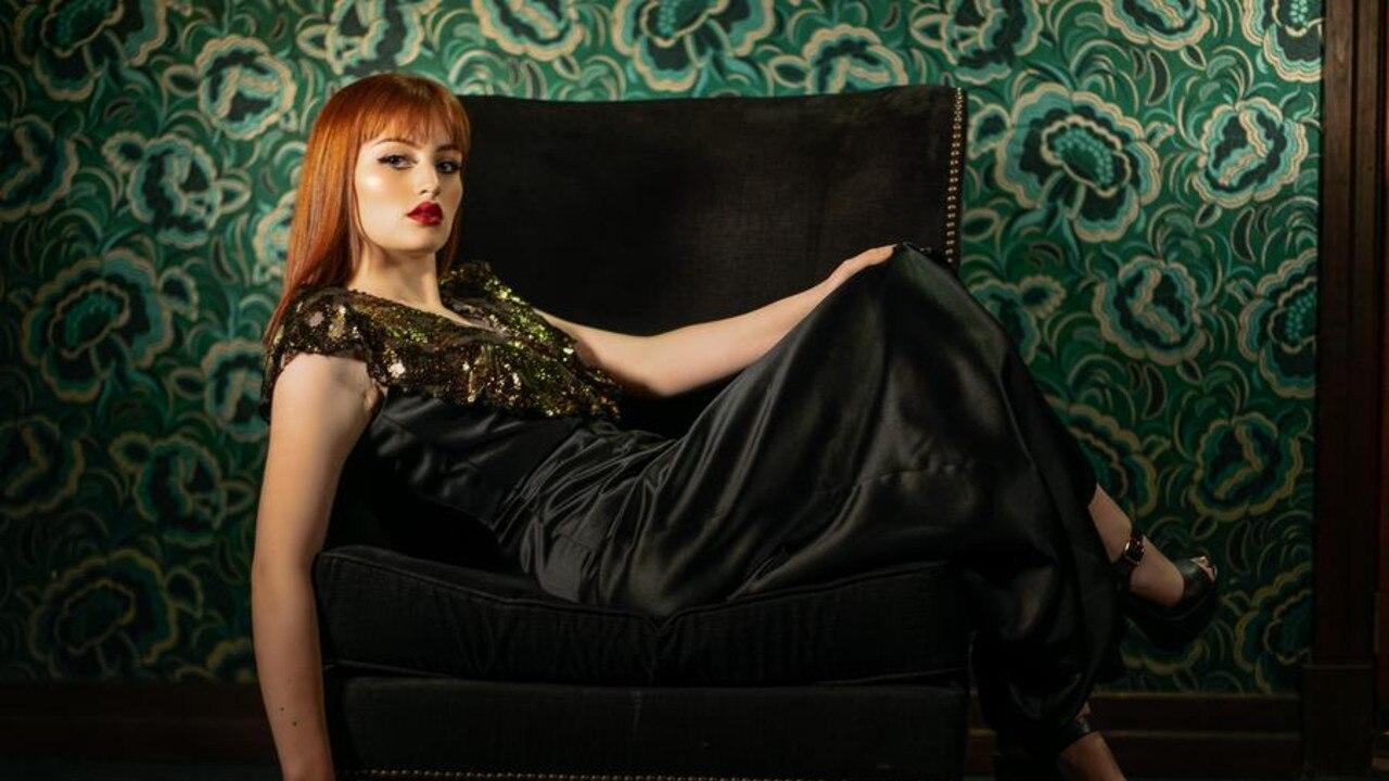 Lola Black and Gold Plunge Dress Picture: Kortni Portia