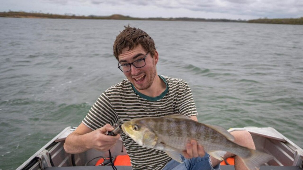 Ben White with a grunter he caught recently.