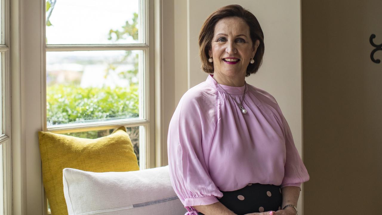 Mary Li at her home in Brisbane. Picture: Mark Cranitch