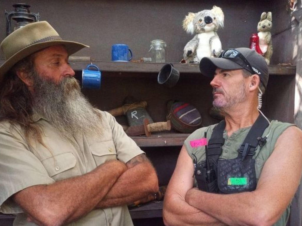 Mark 'Aussie Tarzan' Herlaar, better known as Kiosk Kev, and Troy Gordon. Picture: Instagram