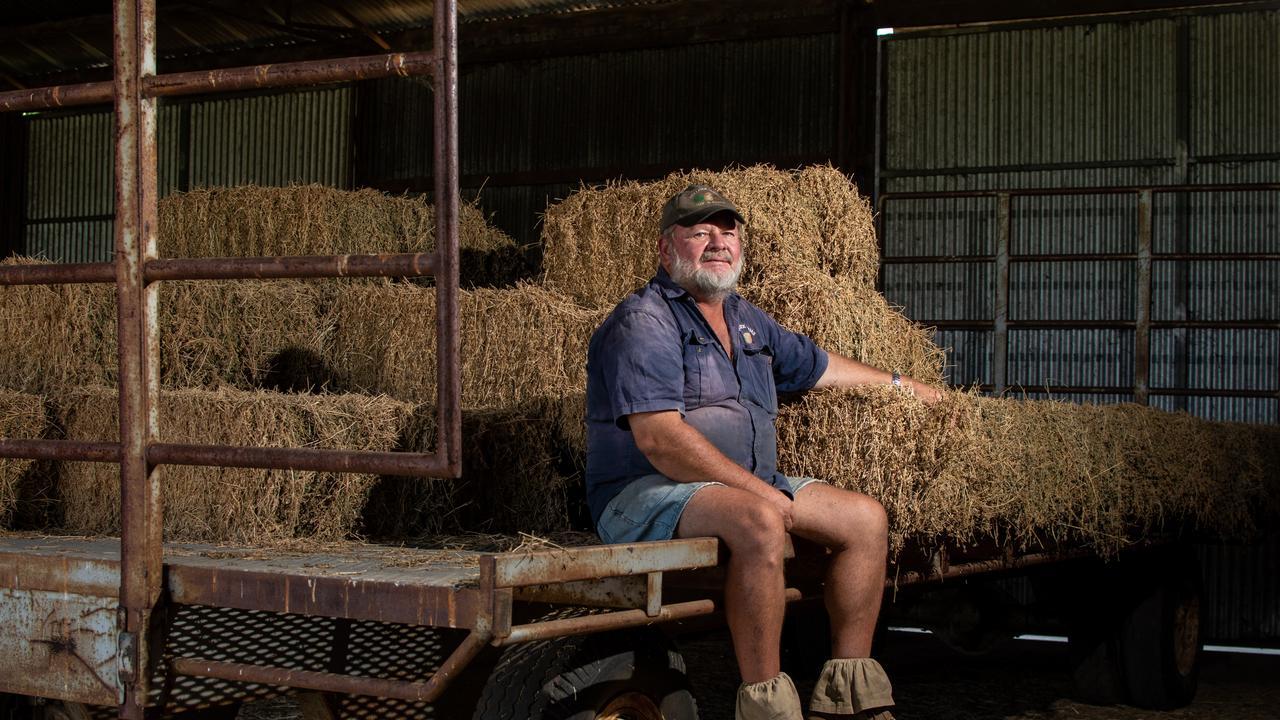 Lockyer Valley lucerne grower Lance Pollock, of Pollock Farms, at Winwill. PHOTO: ALI KUCHEL