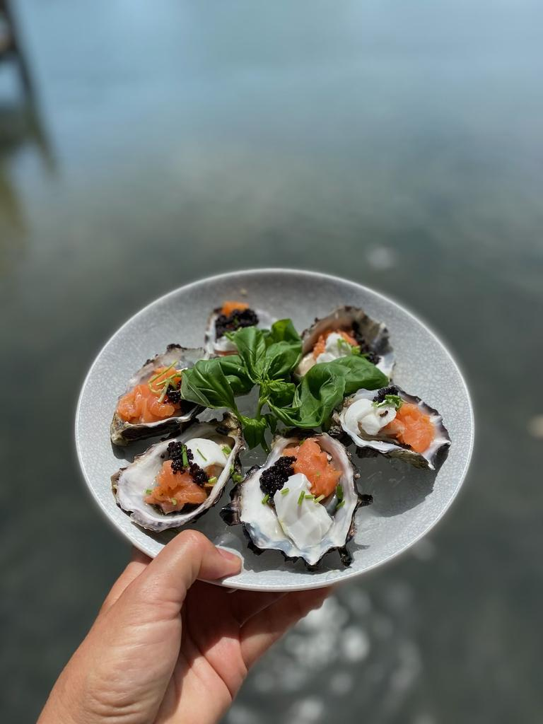 Christmas seafood dish created using produce from Get Hooked Fresh Seafood in Tweed.