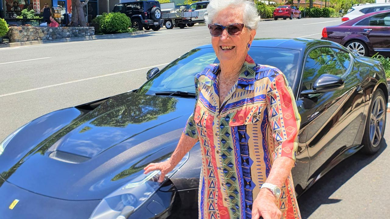 Olive Donaldson gets her motor running to head out on the highway.