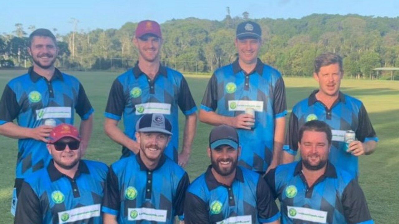 LAST MAN STANDING: Last Man Standing Northern Rivers Ballina member Abe Crawford (front row far right) won the Batsman and Player of the Tournament for the 2020 season. Photo: James MacDonald