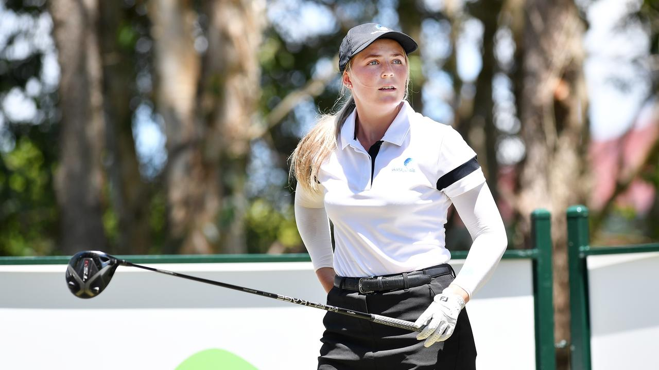 Sarah Wilson, Pelican Waters Golf Club member at the Qld Open in 2020, Pelican Waters Golf Club. Picture: Patrick Woods.