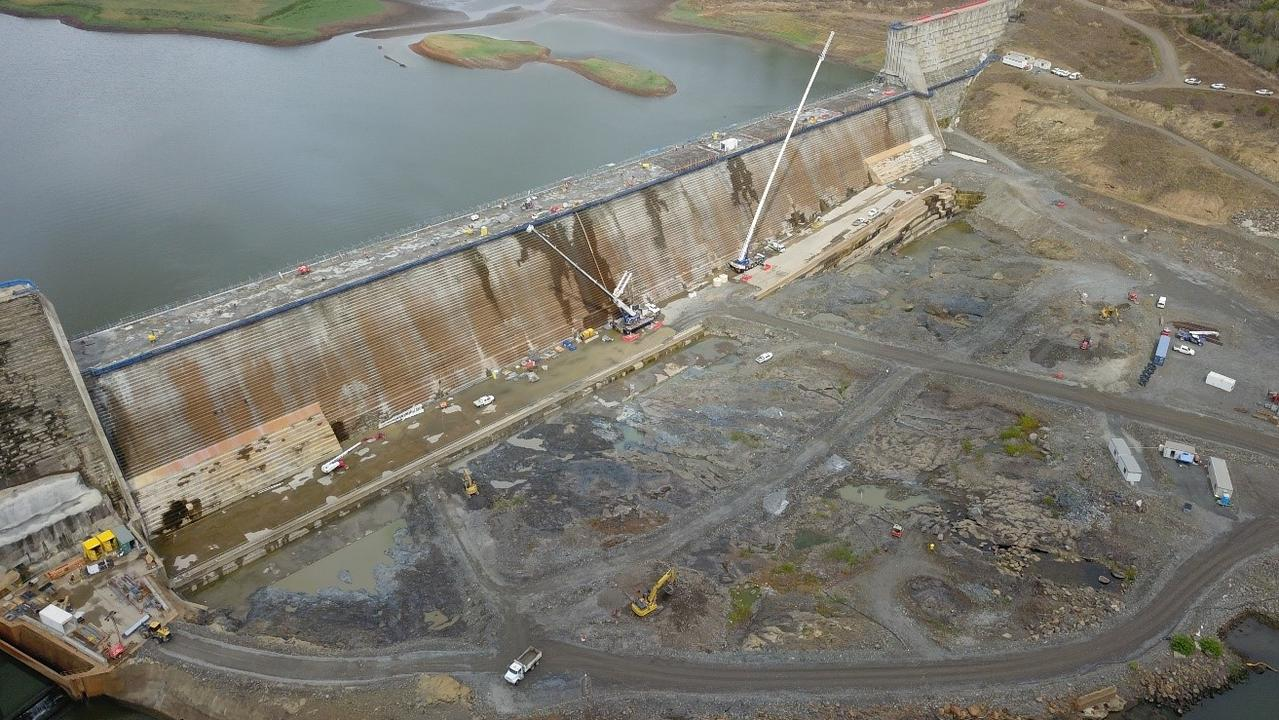 Work and testing at Paradise Dam continues. Source: Sunwater, Paradise Dam Facebook page.