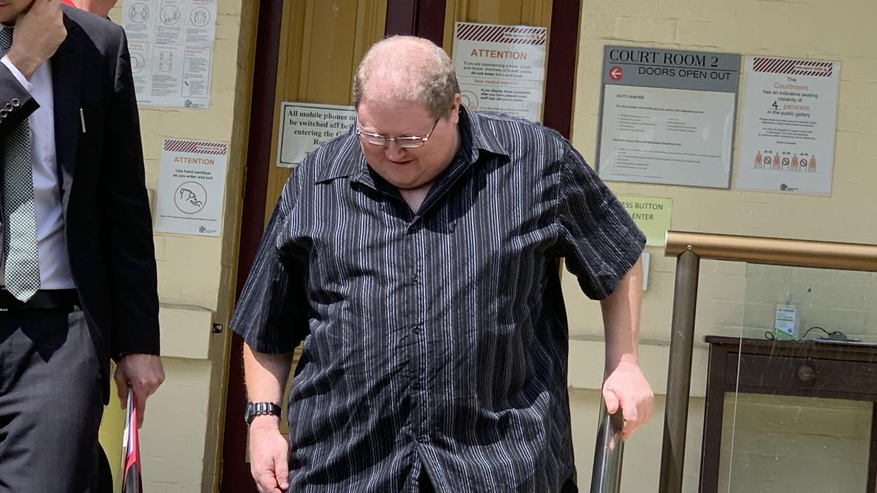 Serial phone pest Jason David Currey outside Maryborough Magistrates Court.