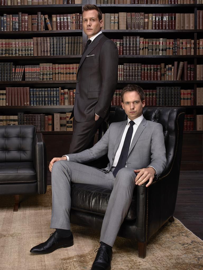 Suits Season: 4 – Pictured: (l-r) Gabriel Macht as Harvey Specter, Patrick J. Adams as Michael Ross – Picture: Nigel Parry/USA Network