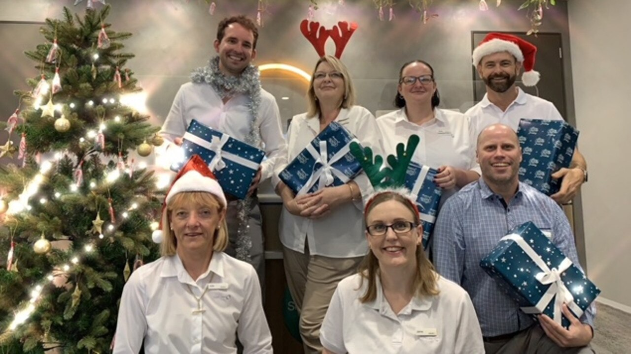 Suncorp employees at the North Rockhampton branch. Picture: Contributed