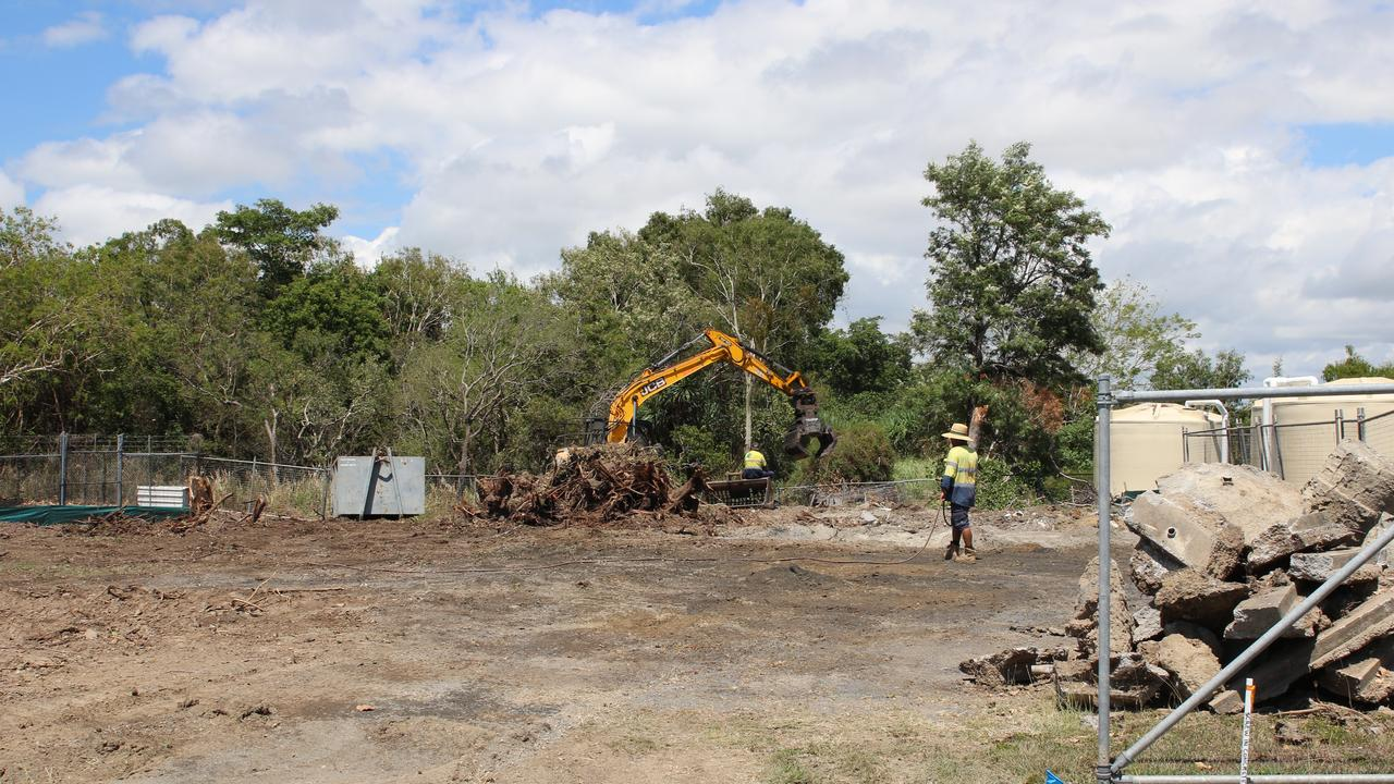 Staff clearing the parcel of land next to the current Animal Management Centre, Mackay. Picture: Mackay Regional Council.