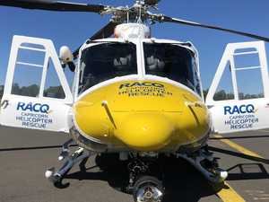 Rescue helicopter responds to emergency beacon