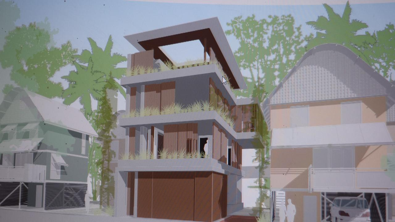 The new build Richard and Prue Holyman have proposed for the back of Hastings St.