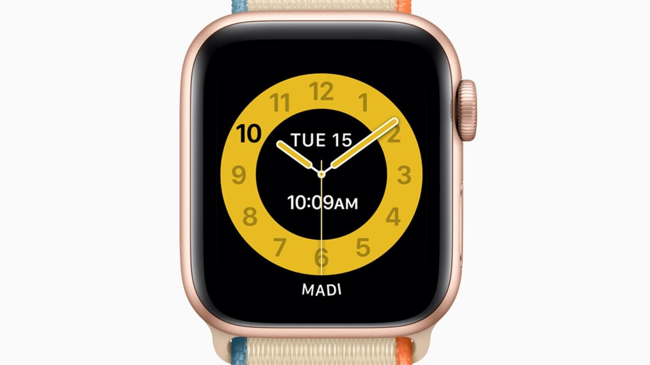 Apple's Family Setup software includes a Schooltime watch face for kids' watches. Picture: Supplied