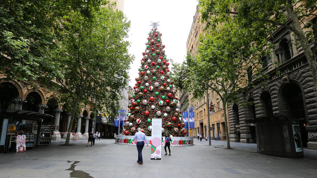 Martin Place in the Sydney CBD is looking very quiet just days ahead of Christmas. Picture: Gaye Gerard