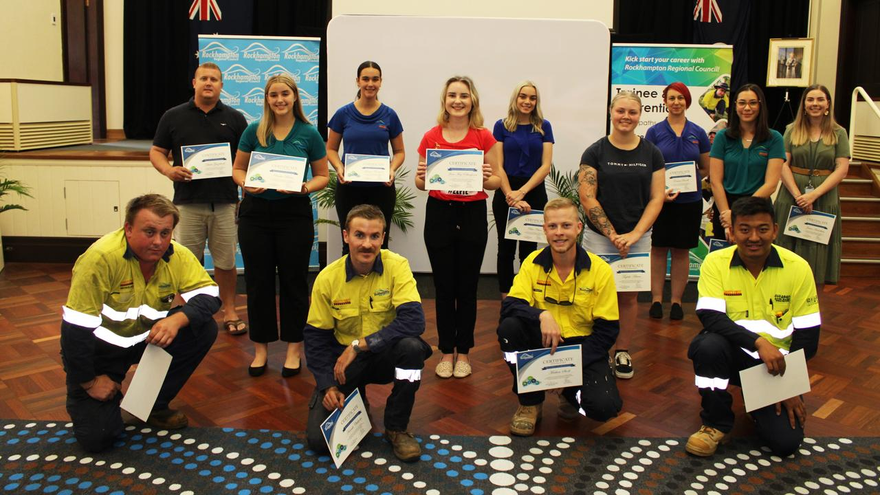 Rockhampton Regional Council trainee and apprentice class of 2020. Picture: Contributed