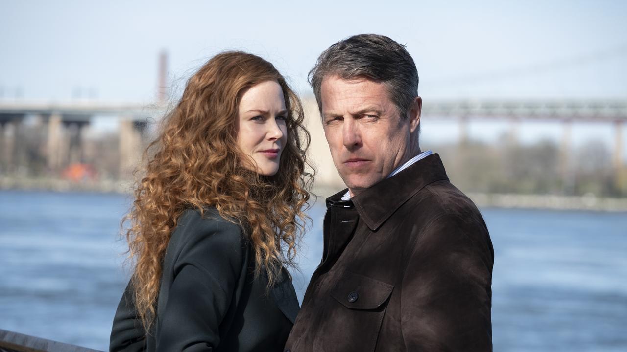 Still from The Undoing HBO drama on Binge and Foxtel. Nicole Kidman (Grace Fraser), Hugh Grant (Jonathan Sachs). Credit BINGE/HBO.